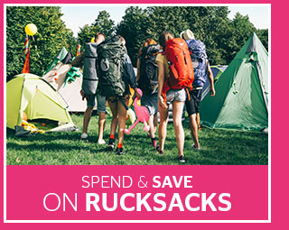 Spend and Save on Rucksacks