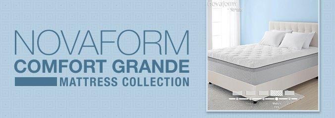 novaform comfort grande mattress collection up to 140 off valid through 521 - Novaform Mattress