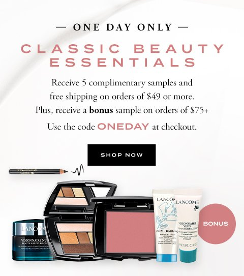 ONE DAY ONLY - CLASSIC BEAUTY ESSENTIALS - SHOP NOW
