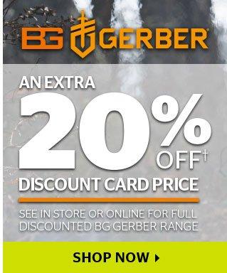20% Off BG Gerber