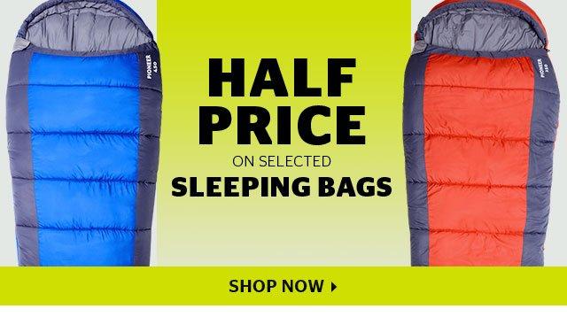 Half Price On Selected Sleeping Bags