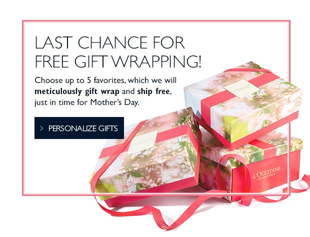 Loccitane last call free gift wrapping milled last chance for free gift wrapping shop now negle Gallery