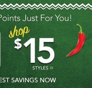 Cinco de Mayo Celebration - Shop Our $15 Deals!