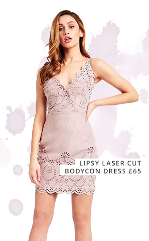 Lipsy laser cut bodycon