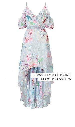 Lipsy floral print maxi dress