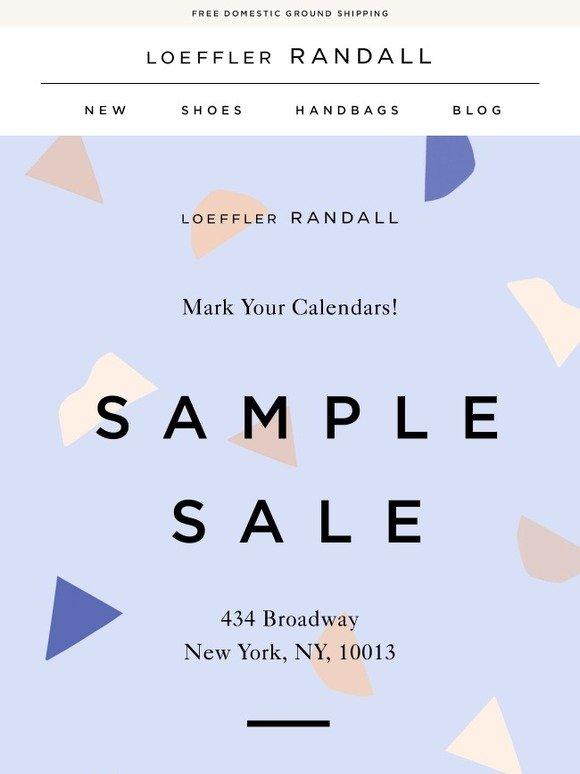 Loeffler Randall: Mark Your Calendars: Sample Sale Coming! | Milled