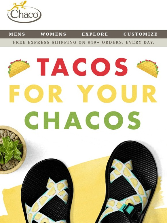 chaco introducing taco straps for cinco de mayo milled