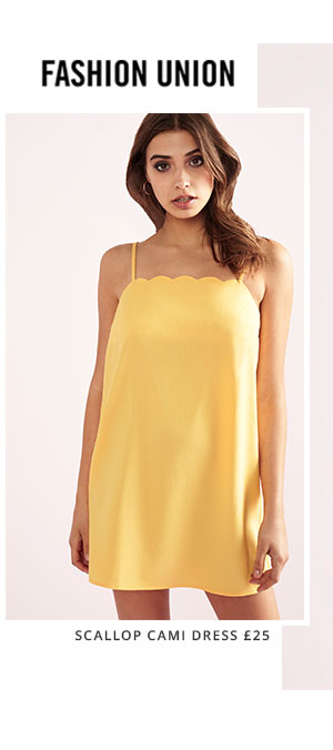 FASHION UNION SCALLOP CAMI DRESS