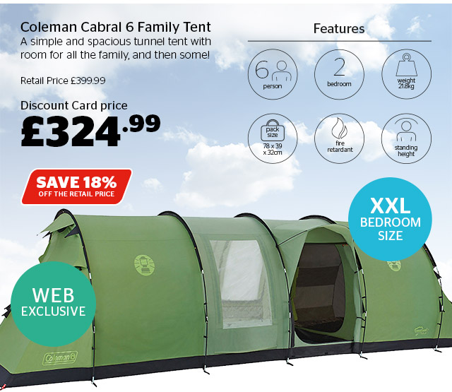 Coleman Cabral 6 Family Tent