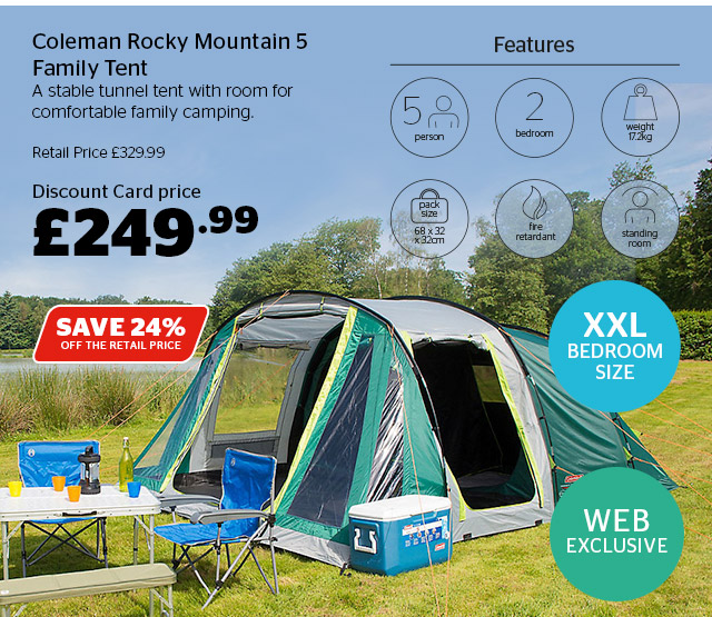 Coleman Rocky Mountain 5 Family Tent