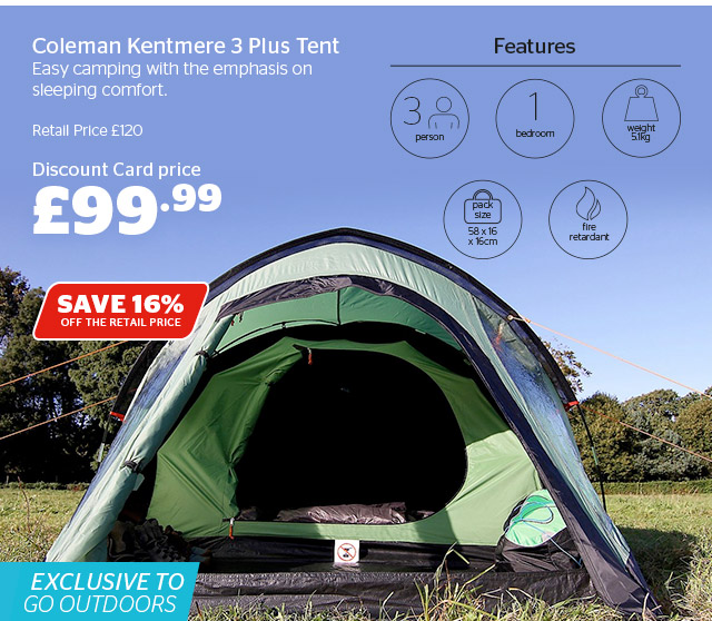 Coleman Kentmere 3 Plus Tent & Go Outdoors: New! Blackout technology in your tent for a better ...