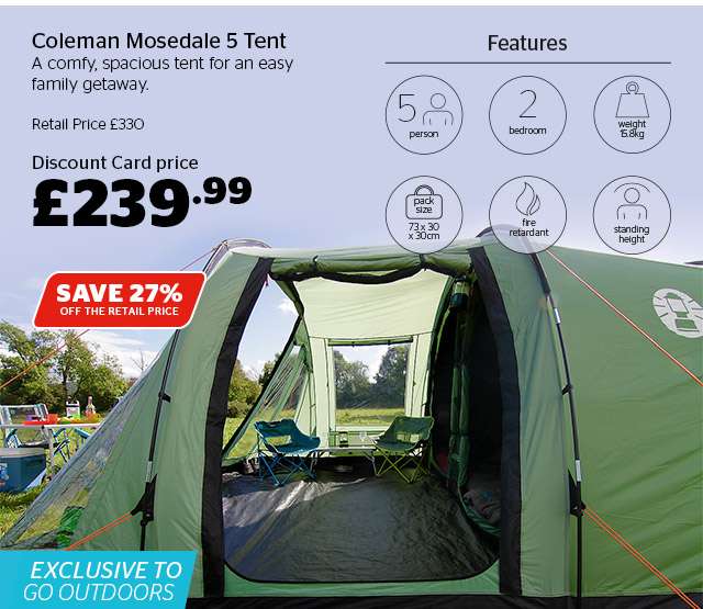 Coleman Mosedale 5 Tent