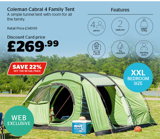 Coleman Cabral 4 Family Tent
