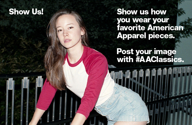 Show us how you wear your favorite American Apparel pieces. Post your image with #AAClassic. You'll have the chance to be featured on our website and 10 randomly selected people will get a free Classic AA Hoodie - the F497!