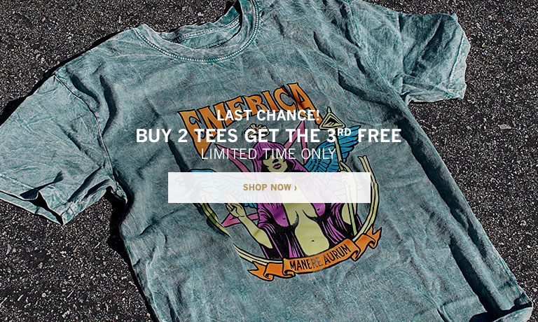 Buy 2 Tees Get the 3rd FREE