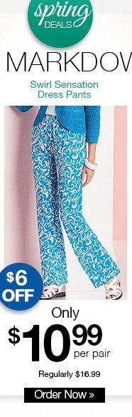 Shop Swirl Sensation Dress Pants