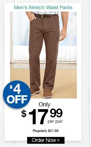Shop Casual Joe Stretch Waist Pants