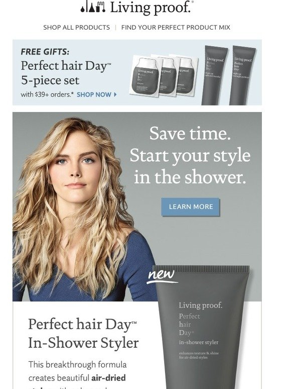 Living Proof New In Shower Styler Plus Free 5 Piece Perfect Hair