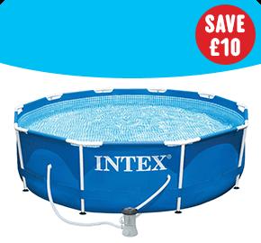 Intex 10ft Metal Frame Pool and Pump