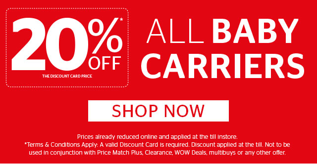 20% Off All Baby Carriers