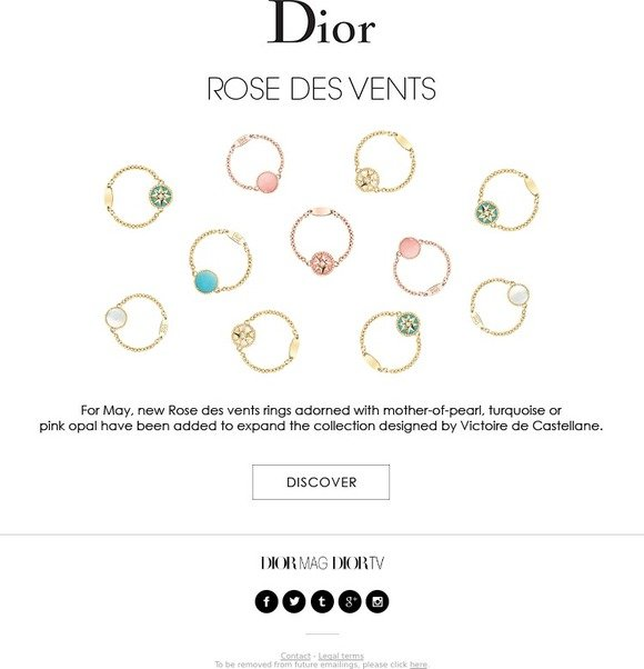 d8d3c46d4e Dior: New Rose des vents rings | Milled