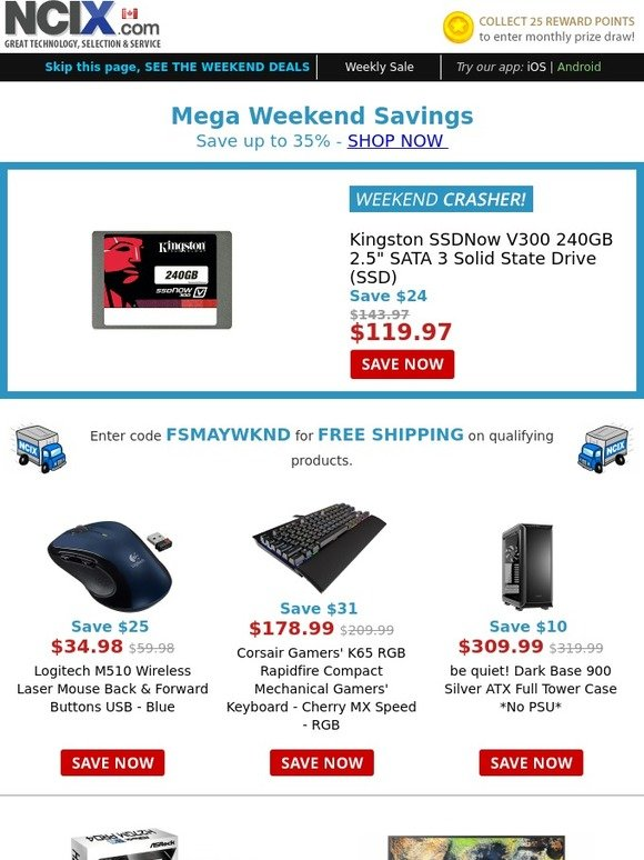 NCIX: Save up to 35% this weekend - Logitech M510 Laser