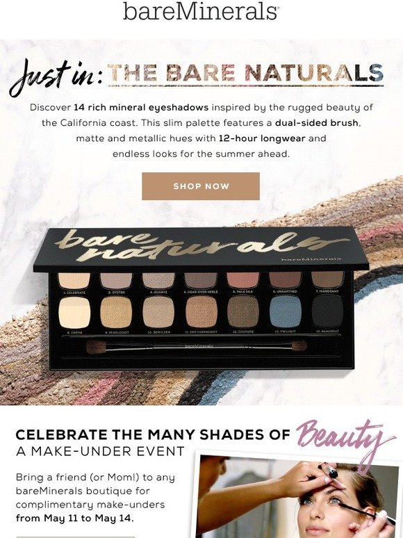 bareMinerals: New shades, new collection (it's New Arrivals time) | Milled