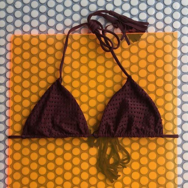 c7376f2a2ce Acacia: Humhumu Triangle Bikini Top - Merlot Mesh