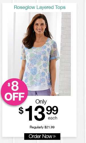 Shop Roseglow Layered Tops