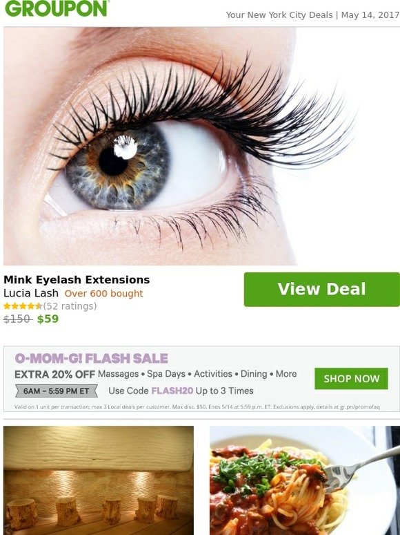 Groupon Mink Eyelash Extensions Milled