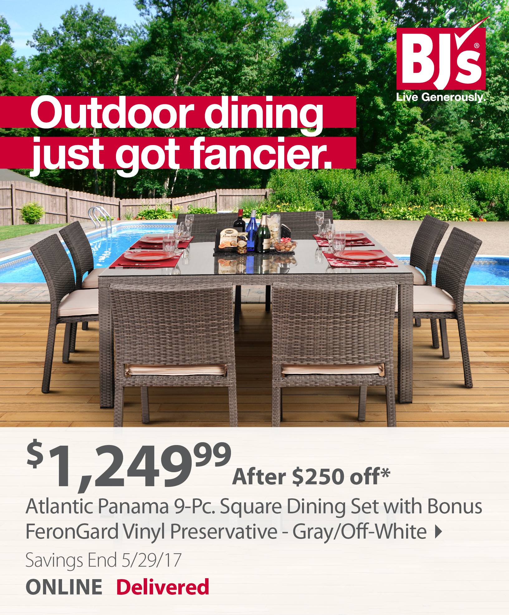 BJs Wholesale Club Save on outdoor furniture swing sets and more