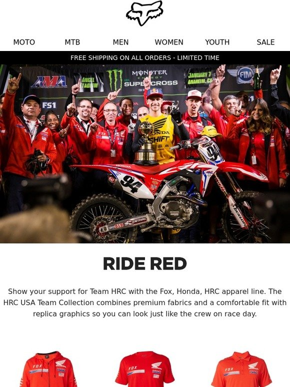 Fox Racing Official Licensed Fox Hrc Honda Collection Milled