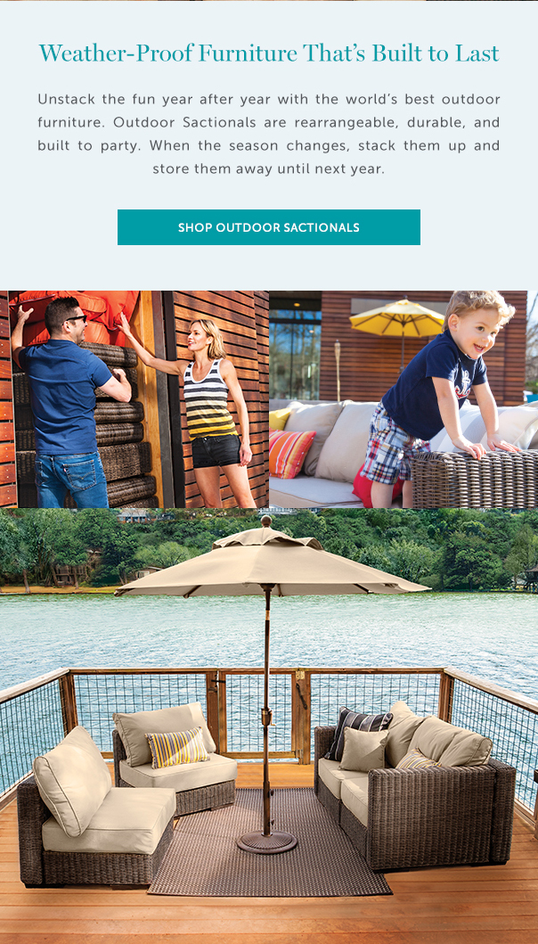 Weather Proof Furniture Thatu0027s Built To Last | Unstack The Fun Year After  Year With