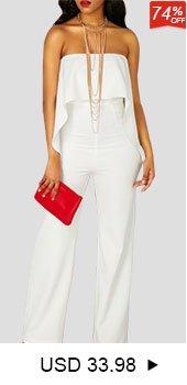821858b5fbba ... High Waist Ruffle Overlay Strapless White Jumpsuit ...