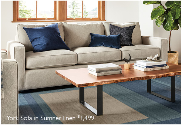 Superbe York Sofa In Sumner Linen $1,499