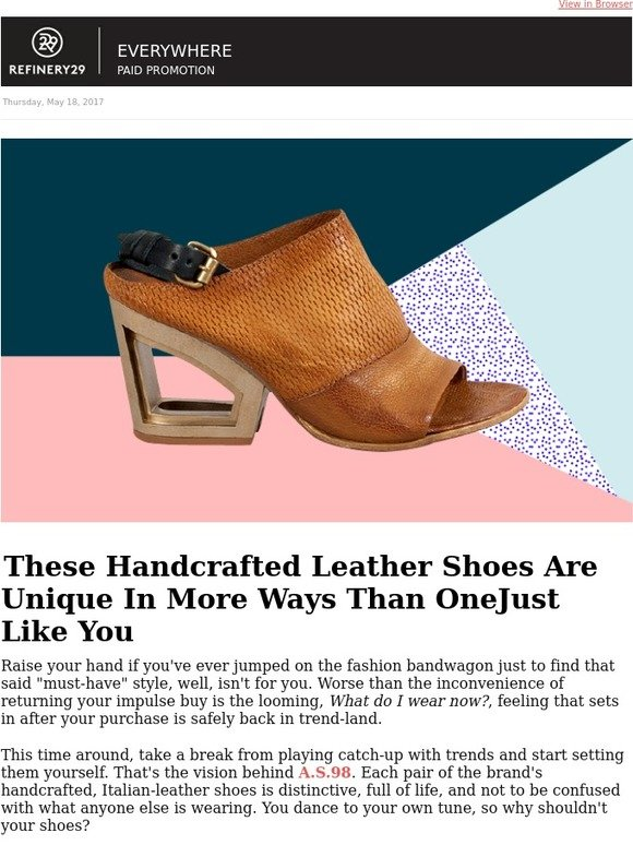 Refinery29 Shops: Trendsetters, THESE shoes are for you | Milled