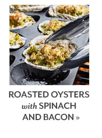 Roasted Oysters with Spinach and Bacon