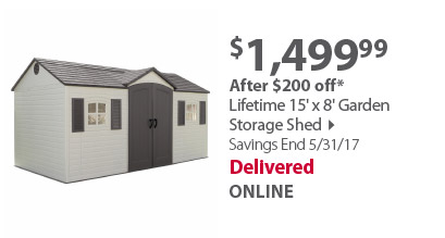 Lifetime 8 x 15 storage shed