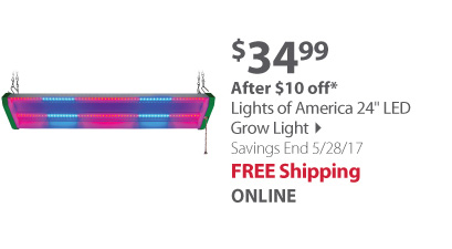 Lights of America 24 LED Grow Light