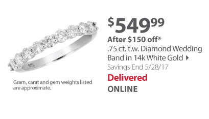 .75 ct. t.w Diamond Wedding Band in 14k White Gold