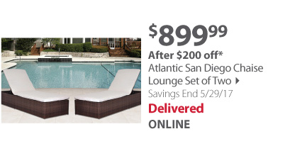 Atlantic San Diego Chaise Lounge Set of Two