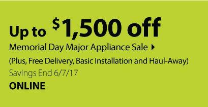 LG Appliance Sale