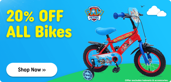20% OFF ALL Bikes