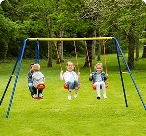 Delta Double Swing and See Saw Set