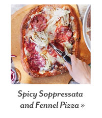 Spicy Soppressata and Fennel Pizza