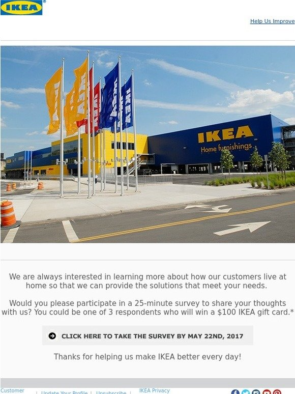 ikea be part of ikea research and you could win a 100 ikea gift card milled. Black Bedroom Furniture Sets. Home Design Ideas
