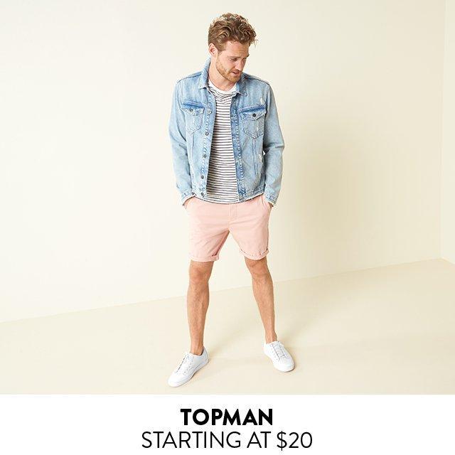 TOPMAN | STARTING AT $20