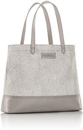 This just in, a grey tote handbag.
