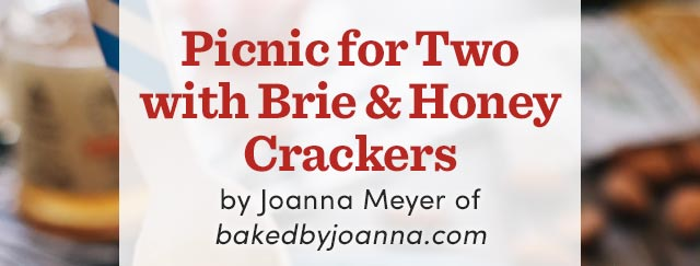 Picnic for Two with Brie & Honey Crackers.