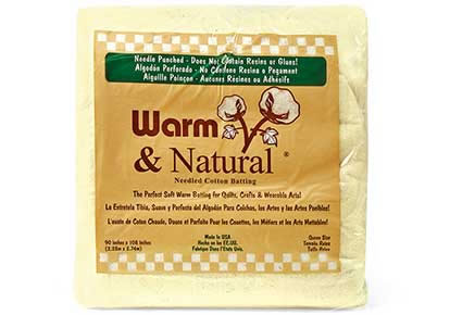 Warm and Natural Queen-Sized Packaged Batting.